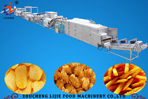 Deep Fried (Frozen) Potato Strips and Chips Production Line